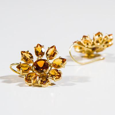 Brautschmuck ohrringe gold  Hochzeitsschmuck Brautschmuck Anfertigung aus Fair Trade ...