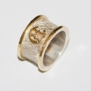 silber-gold-initialenring