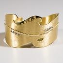 Hochzeitsschmuck / Brautschmuck, Armreif aus Recycling Gold und Tasaniten mit Herkunftsnachweis