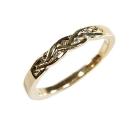 Verlobungsring, geflochten, aus Gelbgold mit Australischen Diamanten