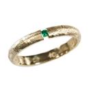 Verlobungsring, Vintage Design, mit Fair Trade Smaragd in Spannfassung