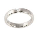 Verlobungsring aus Weissgold, in Spannfassung mit Australischen Diamanten