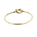 Verlobungsring in Gelbgold, geknotet