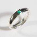 Verlobungsring aus Silber mit Fair Trade Smaragd