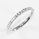 Verlobungsring in Weißgold gefasst mit Australischen Diamanten