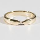 Verlobungsring Gelbgold mit Australischen Diamant