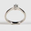 Verlobungsring in Weißgold mit Australischen Diamanten