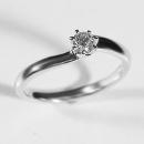 Verlobungsring Weissgold mit Australischen Diamant