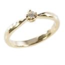 Verlobungsring in Gelbgold, Krappenfassung mit Australischen Diamant