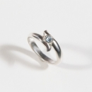 Verlobungsring in Silber mit Aquamarin