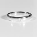 Verlobungsringin Silber mit Australischen Diamanten
