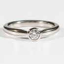 Verlobungsring in Weissgold mit Australischen Diamant