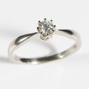 Verlobungsring aus Weissgold - Krabbenfassung mit Diamant