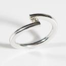 Verlobungsring in Weissgold, Spannfassung mit Australischen Diamanten