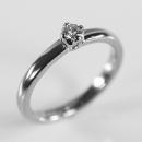 Verlobungsring aus Weißgold mit Diamant mit Herkunftsnachweis